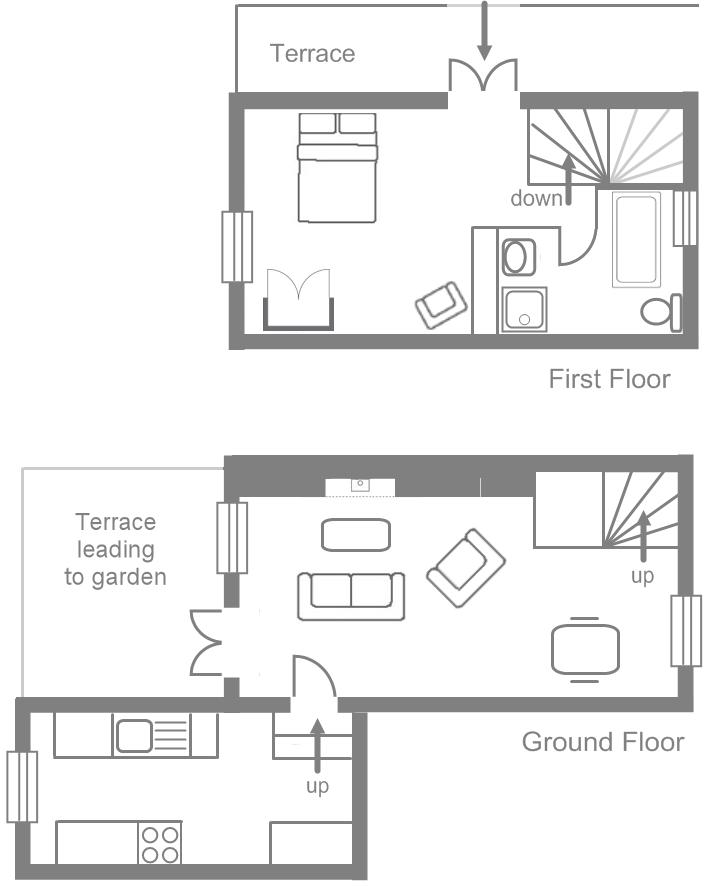 Benar Cottages - Benar Bach floorplan