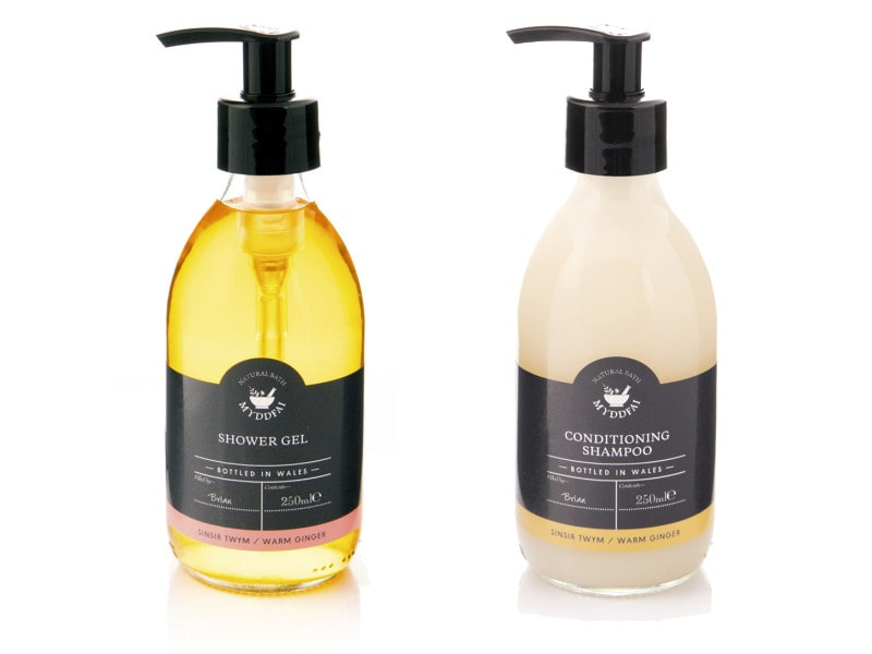 Complimentary Welsh spa soaps at Benar Bach