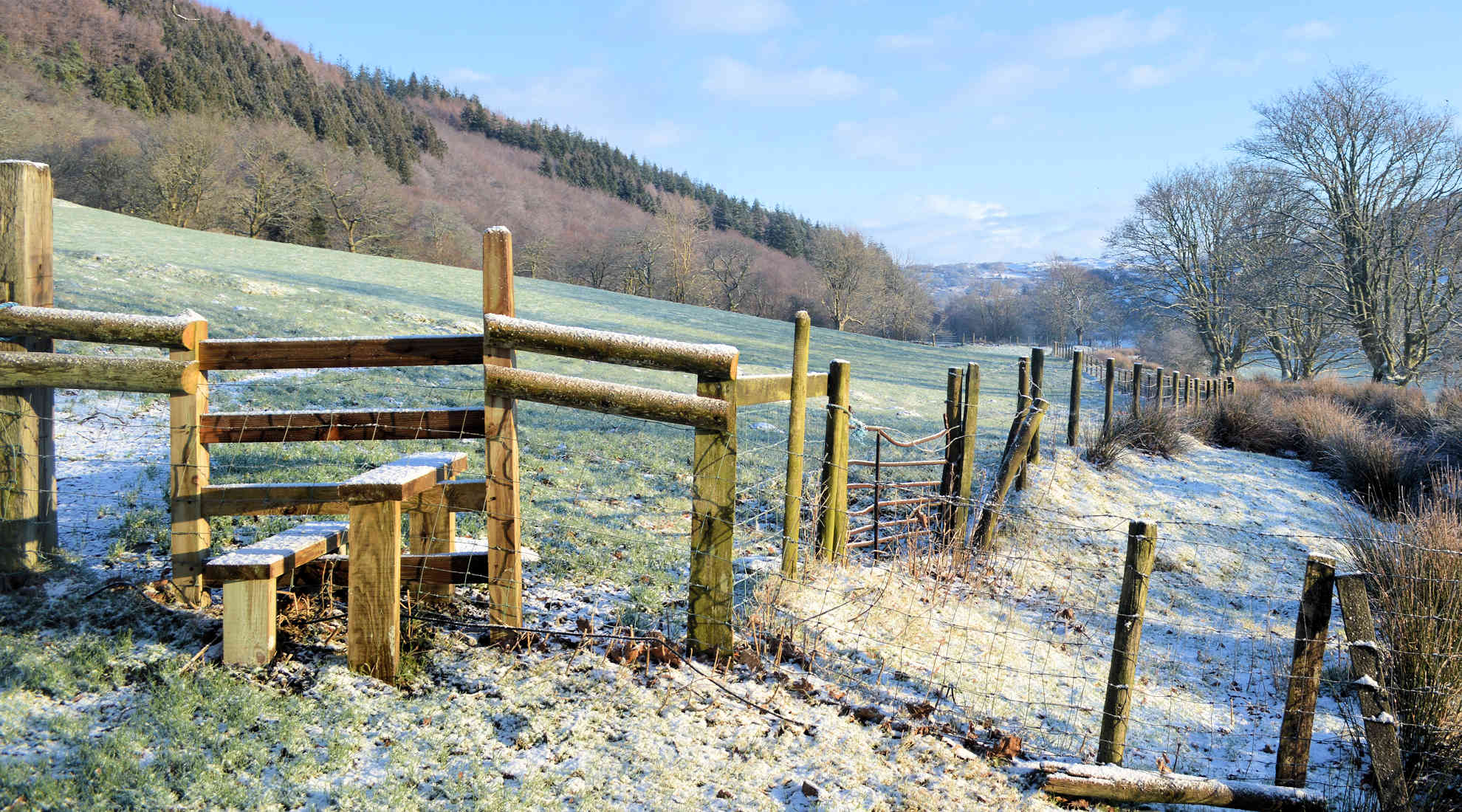 A beautiful frosty day at Benar Cottages